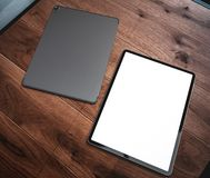 Tablet Pro 2018 with blank screen royalty free illustration
