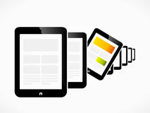 Tablet raw. Raw of tablet pc devices abstract vector illustration royalty free illustration