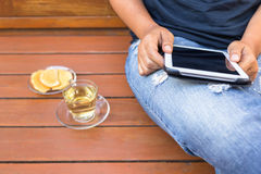 Tablet Relax Royalty Free Stock Photo