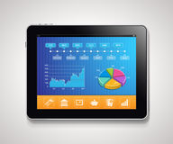 Tablet - report Royalty Free Stock Photos