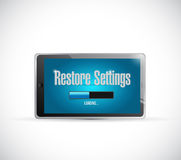 Tablet restore settings bar illustration Royalty Free Stock Photography