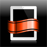 Tablet with ribbon Royalty Free Stock Image