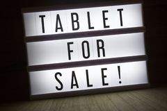 Tablet for sale! stock photos