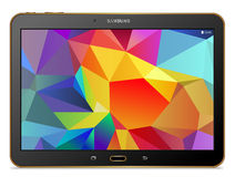 Tablet Samsung galaxy Tab S gold Stock Photos
