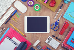 Tablet school mockup Royalty Free Stock Image