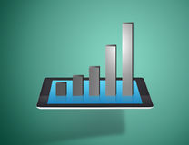 Tablet screen with growth graph Stock Photos