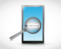 Tablet search bar online illustration design Stock Image