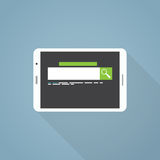 Tablet search illustration Royalty Free Stock Image