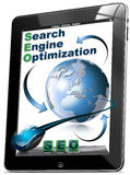Tablet SEO - Search engine optimization Stock Photo