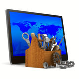 Tablet service on white background Royalty Free Stock Images