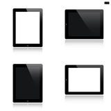 Tablet set isolated on white Royalty Free Stock Images