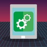 Tablet with setup app. Vector illustration design vector illustration