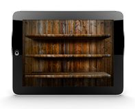 Tablet with shelf Stock Photos