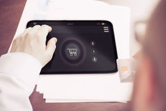 Tablet Shopping Royalty Free Stock Photography