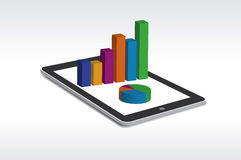Tablet showing a spreadsheet Royalty Free Stock Images