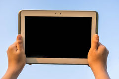 Tablet in the Sky Stock Photography