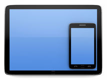 Tablet and smart phone. On white background Royalty Free Illustration