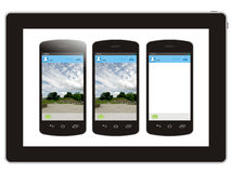 Tablet and smart phone Stock Images