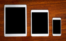 Tablet and smart phone Stock Image