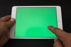 Tablet & Smartphone. Cell phones are a communication tool on a Black background Royalty Free Stock Photo