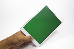Tablet & Smartphone. Cell phones are a communication tool on a white background Royalty Free Stock Image