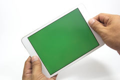 Tablet & Smartphone. Cell phones are a communication tool on a white background Stock Images
