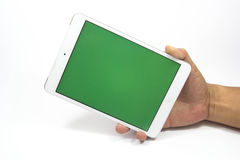 Tablet & Smartphone. Cell phones are a communication tool on a white background Royalty Free Stock Photography
