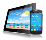 Tablet and Smartphone Royalty Free Stock Photo