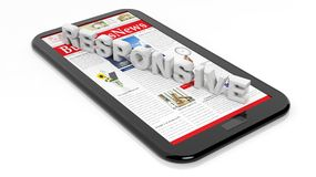 Tablet / smartphone Royalty Free Stock Image