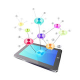Tablet social networking Stock Photography