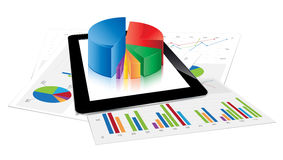 Tablet Statistics Royalty Free Stock Images
