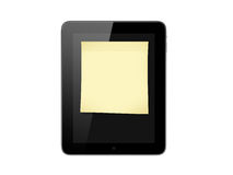 Tablet and Sticky Note Stock Images