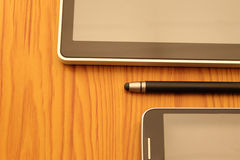 Tablet, stylus and mobile Royalty Free Stock Photos