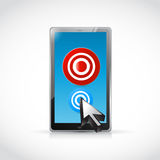 Tablet and targets illustration design Royalty Free Stock Image
