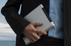 Tablet ter beschikking Stock Fotografie