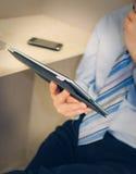 Tablet ter beschikking Stock Foto's