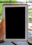 Tablet ter beschikking royalty-vrije stock afbeelding