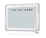 Tablet text. It a generic tablet to fill with text Stock Photography