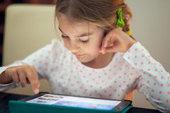 Tablet time for kids Royalty Free Stock Image