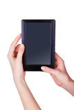 Tablet touch computer Stock Photo