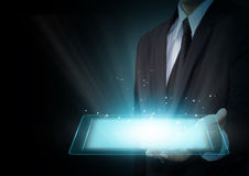 Tablet touch computer gadget Royalty Free Stock Image