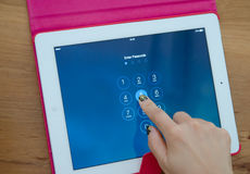 Tablet touch computer gadget Stock Photo