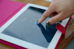 Tablet touch computer gadget Royalty Free Stock Photos
