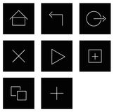 Tablet Touch Icons. Tablet Icons for simple Touch Stock Image