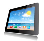 Tablet Travel Stock Photo
