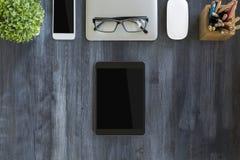 Tablet und andere Einzelteile Stockbilder