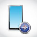 Tablet und Konzeptillustrationsdesign Stockfotografie