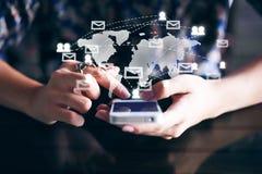 Tablet und Telefon mit Stift Lizenzfreie Stockbilder