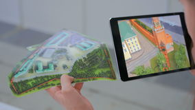 Tablet vergrote werkelijkheid app royalty-vrije stock foto