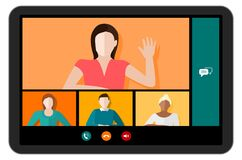 Free Tablet Video Conference Vector Stock Photography - 182622832